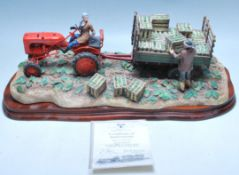 BORDER FINE ARTS - A2142 - CUT AND CRAFTED - TRACTOR STATUE