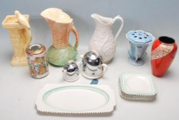 A COLLECTION OF ART DECO CERAMICS TO INLUDE, WADE HEATH AND SYLVAC.