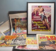 COLLECTION OF 1950S AMERICAN WESTERN CINEMA MOVIE POSTERS