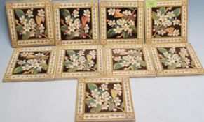 COLLECTION OF NINE 20TH CENTURY VINTAGE TILES