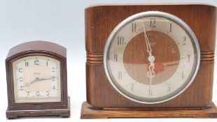 TWO MID CENTURY SMITHS CLOCKS WITH 200/250V ELECTRICAL MOVEMENT