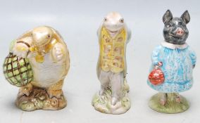 THREE BESWICK BEATRIX POTTER FIGURINES