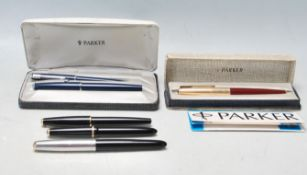 COLLECTION OF VINTAGE 20TH CENTURY PARKER PENS