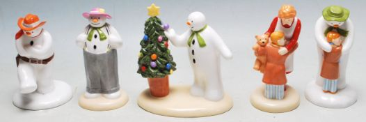 THE SNOWMAN - COALPORT - COLLECTION OF FIVE BOXED FIGURES