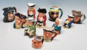 COLLECTION OF VINTAGE LATE 20TH CENTURY MINIATURE TOBY