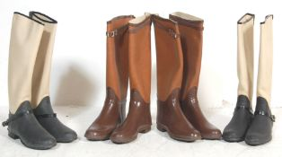COLLECTION OF VINTAGE MENS AND WOMENS UNUSED RIDING BOOTS
