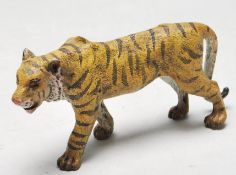 ANTIQUE STYLE VICTORIAN BRONZE FIGURINE OF A TIGER