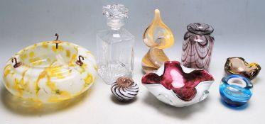 COLLECTION OF VINTAGE RETRO 20TH CENTURY STUDIO ART GLASS VASES