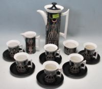 RETRO VINTAGE 1970S PORTMEIRION MAGIC CITY COFFEE SERVICE