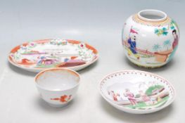 FOUR 19TH AND 20TH CENTURY CHINESE ORIENTAL CERAMIC WARE