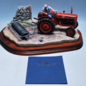 BORDER FINE ARTS - B0094 - TURNING WITH CARE - TRACTOR STATUE