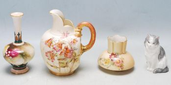 FOUR EARLY 20TH CENTURY ROYAL WORCESTER CERAMIC WARE