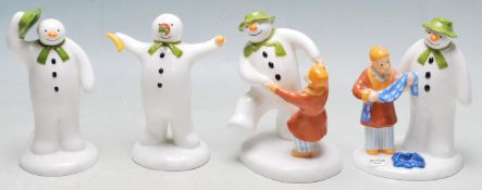THE SNOWMAN - COALPORT - COLLECTION OF FOUR BOXED FIGURES