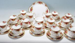 TWELVE PERSON ROYAL ALBERT - OLD COUNTRY ROSES TEA SET