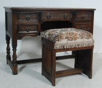 EARLY 20TH CENTURY JACOBEAN REVIVAL WRITING DESK