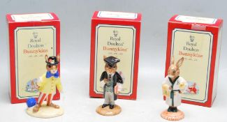 COLLECTION OF THREE ROYAL DOULTON BUNNYKINS FIGURINES