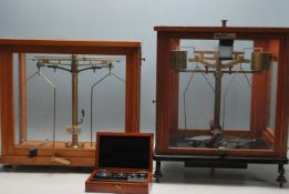 TWO VINTAGE 20TH CENTURY LABORATORY SCALES