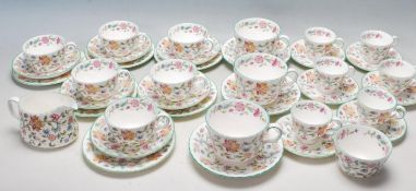 MINTON HADDON HAll FINE BONE CHINA TEA SERVICE