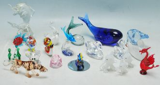 LARGE QUANTITY OF VINATGE RETRO STUDIO ART GLASS MINIATURE FIGURINES
