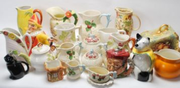 LARGE QUANTITY OF VINTAGE 20TH CENTURY JUGS, TEAPOTS AND CERAMIC WARE BY SHORTER & SON