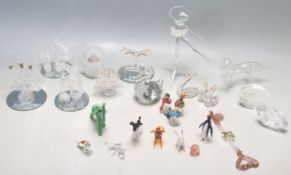 COLLECTION OF LATE 20TH CENTURY BLOWN GLASS FIGURINES