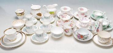 LARGE QUANTITY OF 19TH AND 20TH CENTURY FINE BONE CHINA CERAMIC WARE