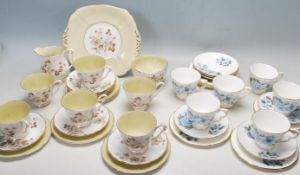 TWO VINTAGE 20TH CENTURY SIX PERSON TEA SETS