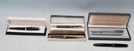 COLLECTION OF VINTAGE 20TH CENTRUY PARKER PENS