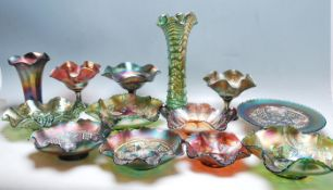 LARGE COLLECTION OF VINTAGE CARNIVAL GLASS