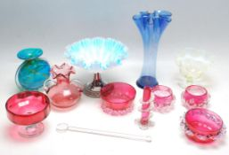 COLLECTION OF 19TH AND 20TH CENTURY GLASS WARE