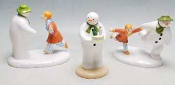 THE SNOWMAN - COALPORT - COLLECTION OF THREE BOXED FIGURES