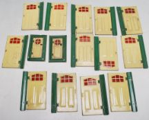 COLLECTION OF VINTAGE TRI-ANG DOLLS HOUSE DOORS / WINDOWS