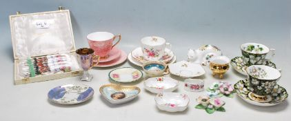 COLLECTION OF LATE 20TH CENTURY CHINA TEA SERVICES