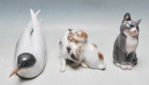 COLLECTION OF THREE VINTAGE SCANDINAVIAN ANIMAL FIGURINES
