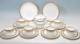 ANTIQUE VICTORIAN COLLINGWOOOD 21 PIECE FINE BONE CHINA TEA SERVICE