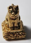 ANTIQUE DESK STAMP IN THE FORM OF A CAT