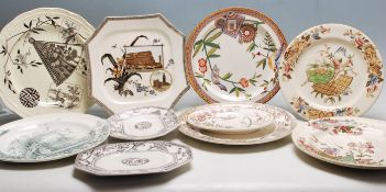COLECTION OF VICTORIAN AESTHETIC MOVEMENT PLATES