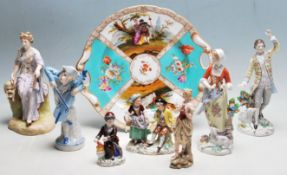 COLLECTION OF ANTIQUE EARLY 20TH CENTURY CERAMIC FIGURES