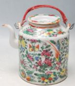 ANTIQUE EARLY 20TH CENTURY XIANG FENG CHINESE FAMILLE ROSE TEAPOT