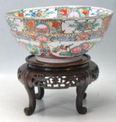 LARGE 20TH CENTURY CHINESE PORCELAIN PUNCH BOWL