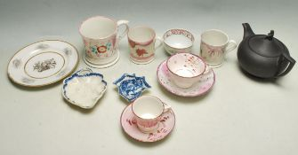 COLLECTION OF ANTIQUE 19TH CENTURY AND LATER POTTERY AND PORCELAIN