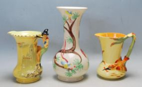 COLLECTION OF CHARLOTTE RHEAD AND BURLEIGHWARE VASES