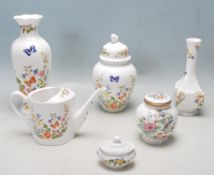 GROUP OF SIX 20TH CENTURY AYNSLEY FINE BONE CHINA CERAMIC WARE