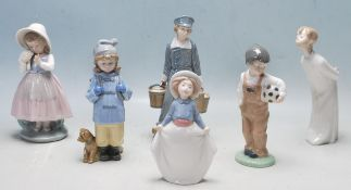 COLLECTION OF LATE 20TH CENTURY FIGURINES BY NAO / LLADRO