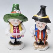 TWO ANTIQUE FRENCH EDME SAMSON PORCELAIN DWARVES