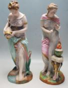 TWO 19TH CENTURY VION & BAURY NEO CLASSICAL FIGURINES