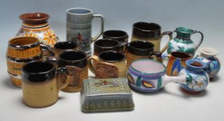 COLLECTION OF VINTAGE 20TH CENTURY STUDIO ART POTTERY WARE