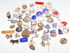 COLLETION OF MIXED 20TH CENTURY ENAMELLED BADGES