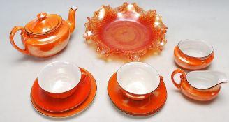 RETRO 20TH CENTURY CZECHOSLOVAKIAN / CZECH CERAMIC TEA SET