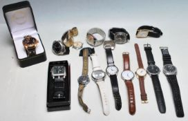 COLLECTION OF VINTAGE 20TH CENTURY GENTLEMANS WRISTWATCHES